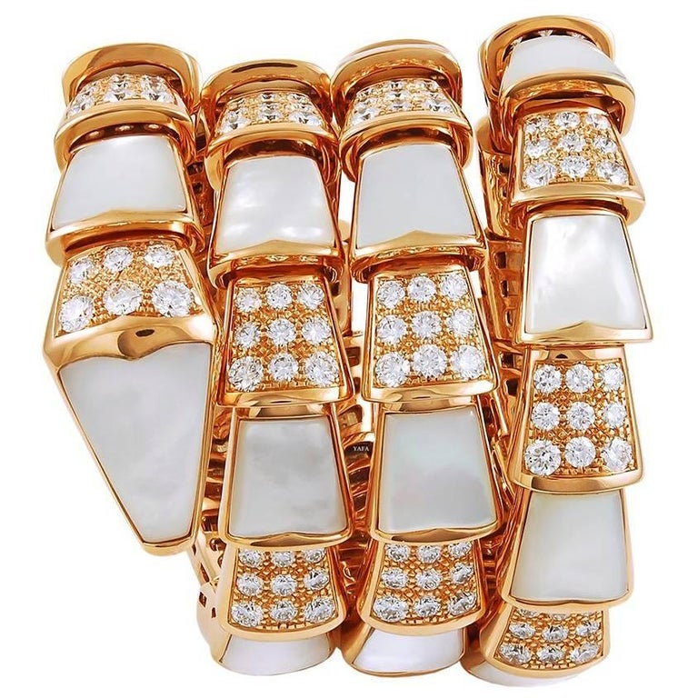 Bulgari Four Coils Serpenti Bracelet For Sale