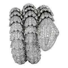Bulgari Full Pave Diamond Serpenti Bracelet