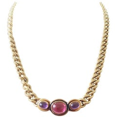 Bulgari Gemstone Gold Necklace