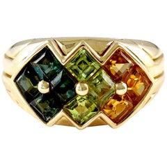 Bulgari Gemstone Gold Ring