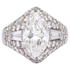 Bulgari GIA Certified Marquise Diamond Ring