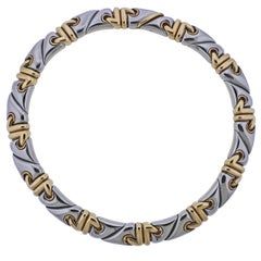 Bulgari Gold and Steel Necklace