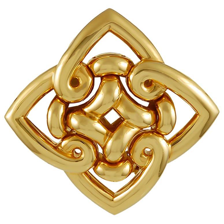 Bulgari Gold Brooch Pin