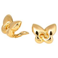 Bulgari Gold Butterfly Earrings