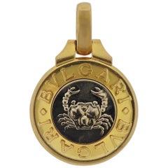 Bulgari Gold Cancer Zodiac Sign Pendant