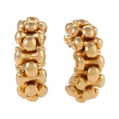 Bulgari Gold Half Hoop Earrings