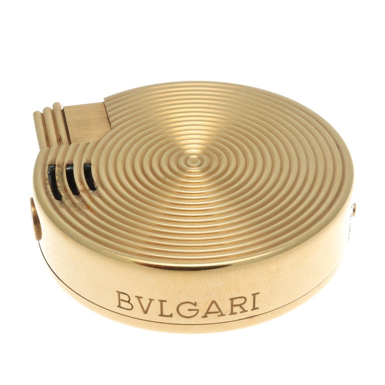 A hypnotic creation from Bulgari. Another unique design to add to the collection. Designed in 18k gold. Signed Bvlgari and numbered.