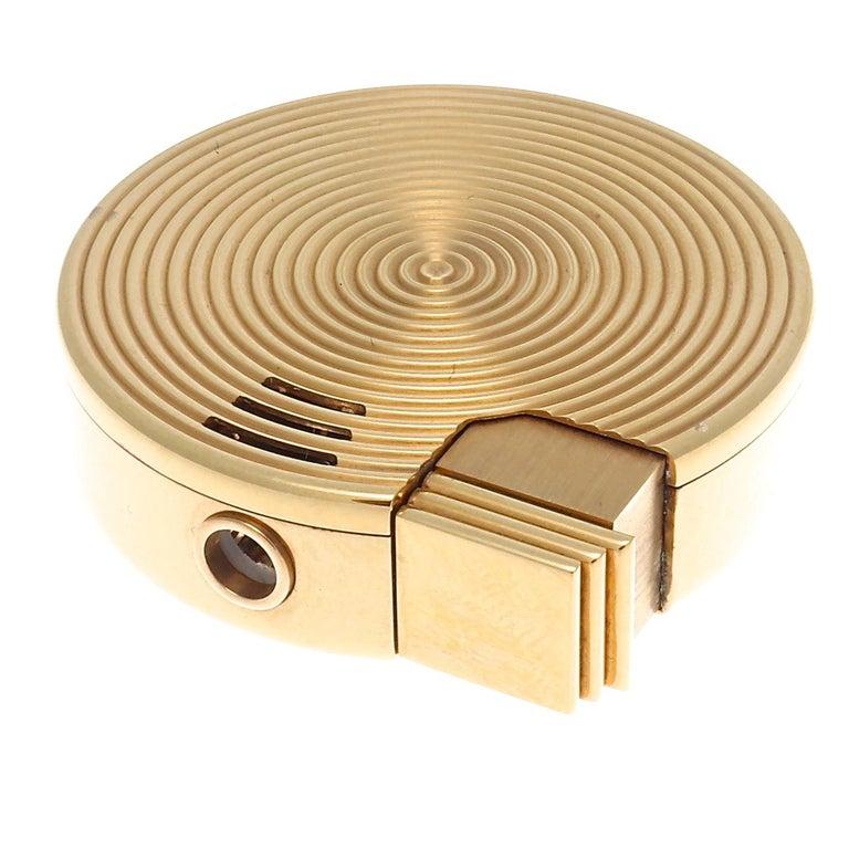 Modern Bulgari Gold Lighter For Sale