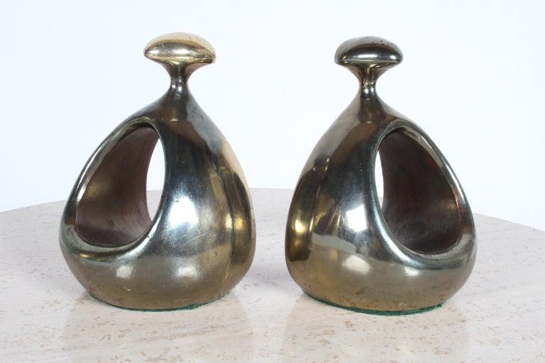 Ben Seibel for Jenfred-Ware Brass Bookends For Sale 3