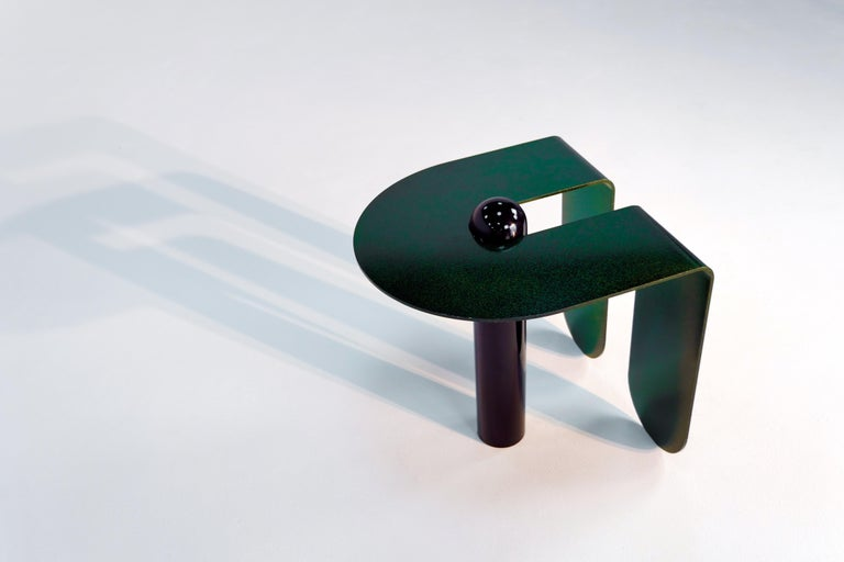 Dazzling Geometric Side Table by Birnam Wood Studio and Suna Bonometti For Sale 9