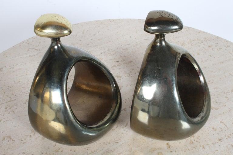 Ben Seibel for Jenfred-Ware Brass Bookends For Sale 5