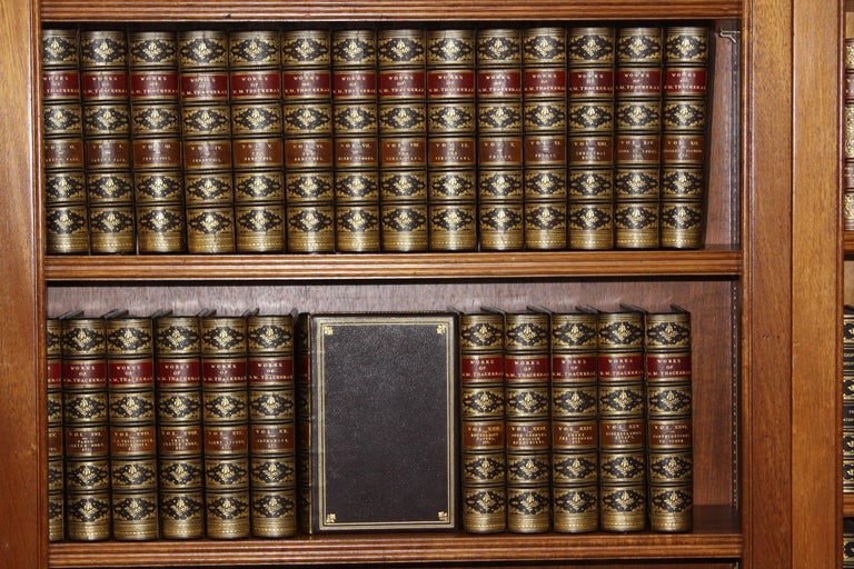 Books, The Writings of William Makepeace Thackeray, Antiques Leather-Bound Set For Sale 8