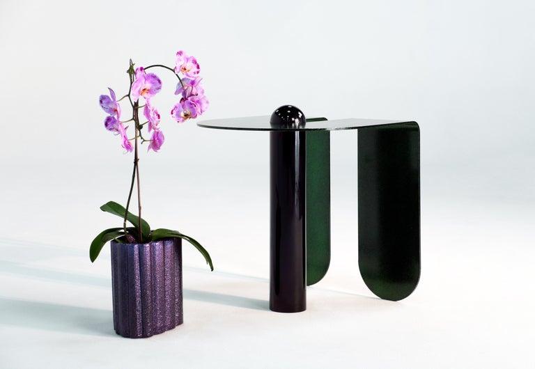 Dazzling Geometric Side Table by Birnam Wood Studio and Suna Bonometti For Sale 10