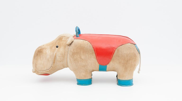 1970s High-Quality Children Toy 'Hippo' by German Renate Müller 'c' 13