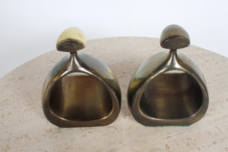 Ben Seibel for Jenfred-Ware Brass Bookends For Sale 7