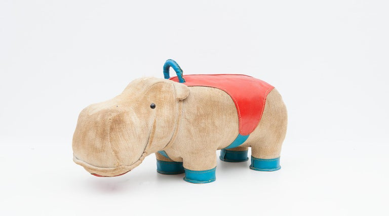 1970s High-Quality Children Toy 'Hippo' by German Renate Müller 'c' 14