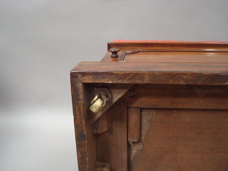William IV Mahogany and Leather Box Stool For Sale 8