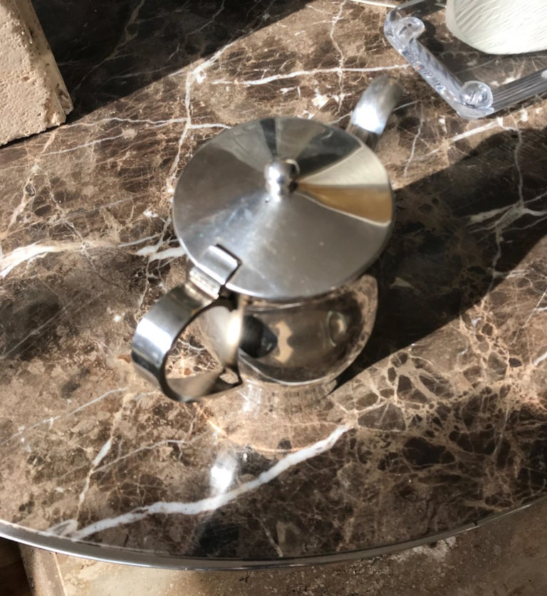 Midcentury Hotel Silver Coffee Pot For Sale 11