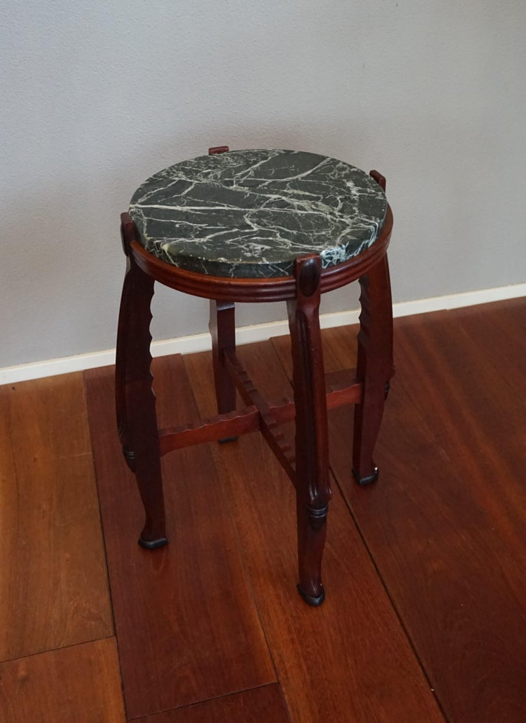 Marvelous design and all-handcrafted table.   This great looking and practical size, Dutch Arts and Crafts table is an absolute joy to own and look at. This one of a kind design can be used in both Art Deco and Arts & Crafts interiors and for all