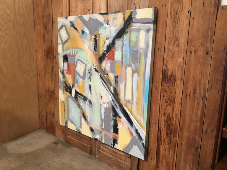 Abstract painting on canvas by Laguna Beach artist Ken Ohmert.