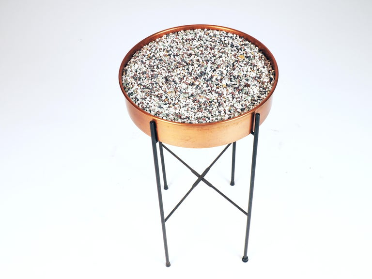 Rare plant container in copper by Gunnar Ander. Produced by Ystad Metall, Sweden. 1960s.