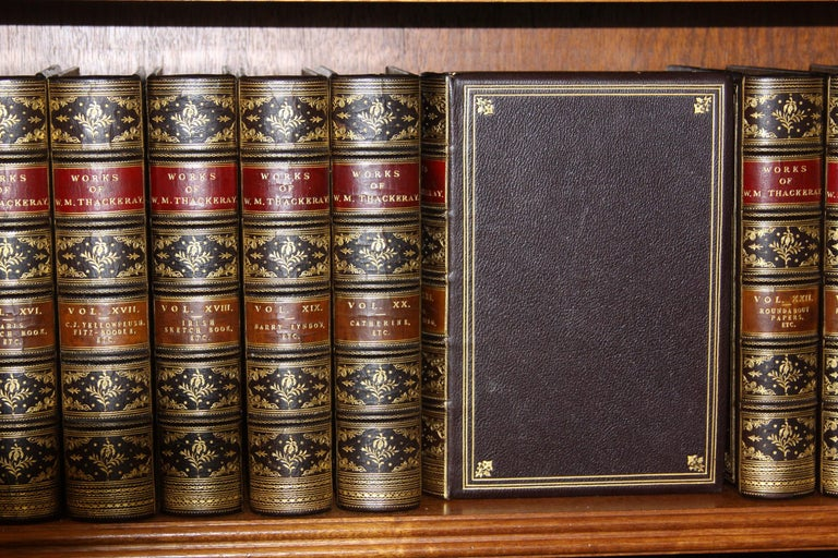 Twenty-six volumes The Writings of William Makepeace Thackeray. Published: London; Smith Elder and Company. 1878. Complete with illustrations by the author Thackeray. Limited to one thousand copies which this is number 232. Handsomely bound in full