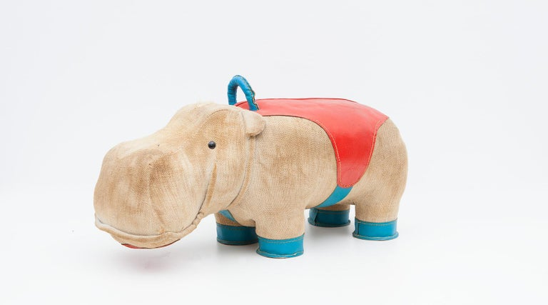 1970s High-Quality Children Toy 'Hippo' by German Renate Müller 'c' 2