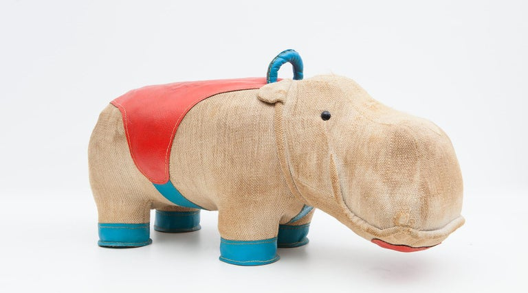 1970s High-Quality Children Toy 'Hippo' by German Renate Müller 'c' 20
