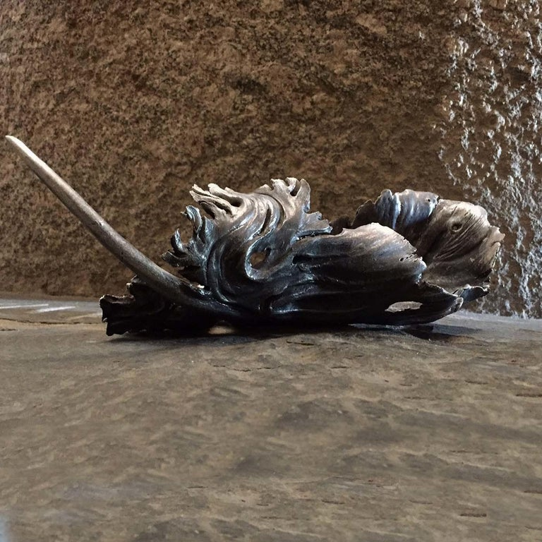 Italian Floating Feather Sculpture For Sale