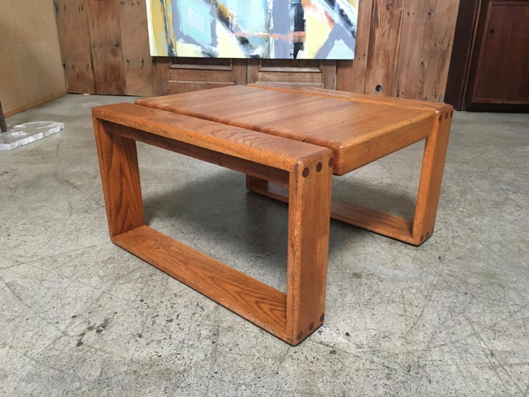 Mid-Century Modern California Design 1970s End Table by Lou Hodges For Sale