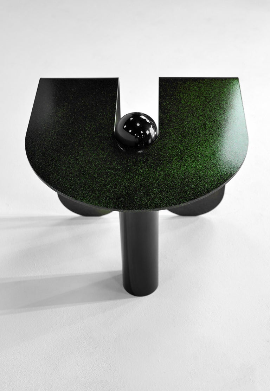 Powder-Coated Dazzling Geometric Side Table by Birnam Wood Studio and Suna Bonometti For Sale