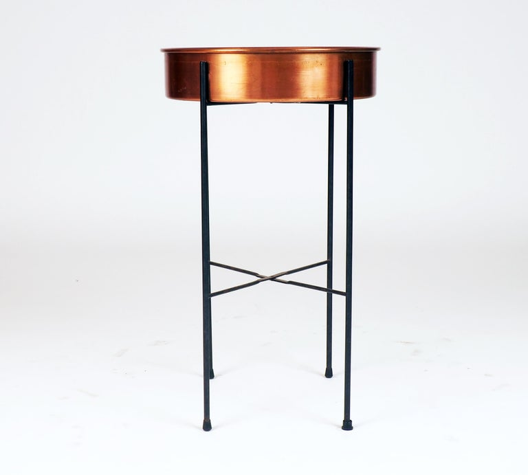 Scandinavian Modern Plant Container in Copper by Gunnar Ander, Produced by Ystad Metall For Sale