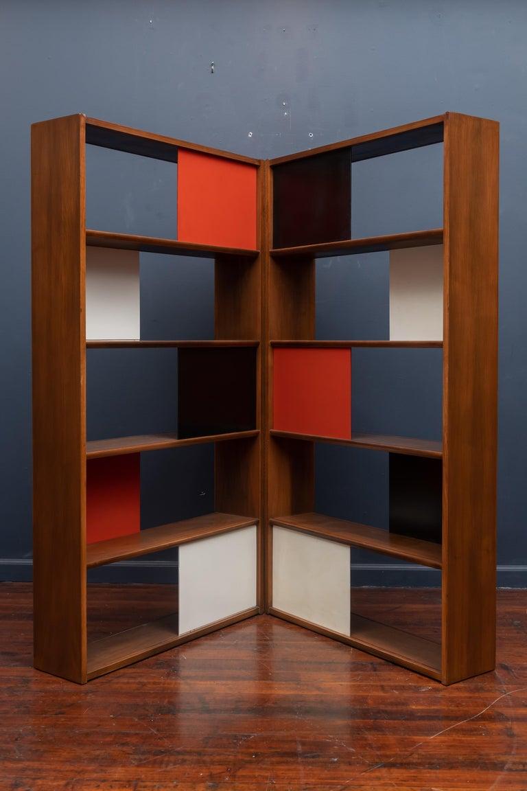 Mid-Century Modern Evans Clark Room Divider or Bookshelf for Glenn of California For Sale