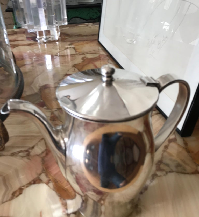 Mid-Century Modern Midcentury Hotel Silver Coffee Pot For Sale