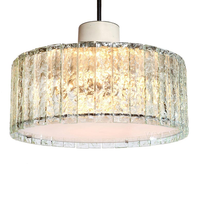 Mid-Century Modern Extraordinary Glass Ceiling Fixture/Chandelier by Max Ingrand for Fontana Arte For Sale