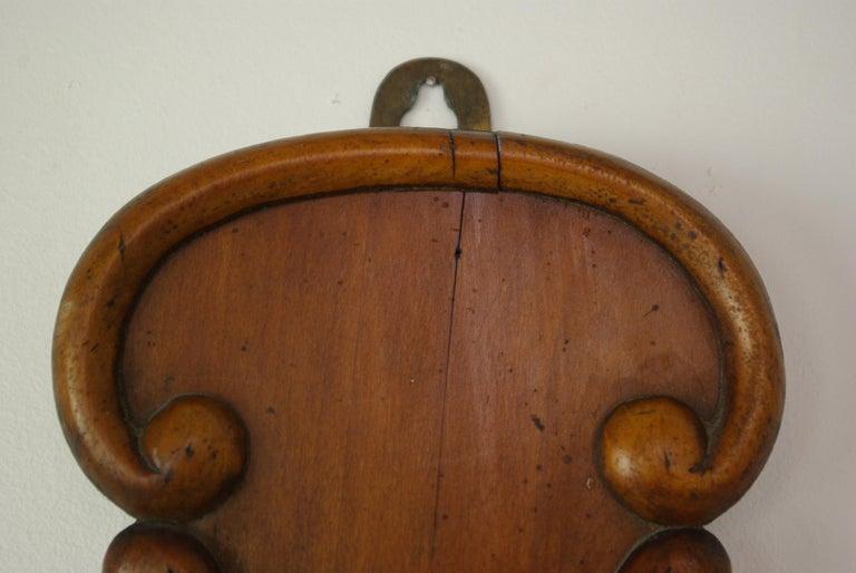 Scottish Antique Barometer, Aneroid Barometer, Decorative Barometer, Carved Walnut, B1282 For Sale