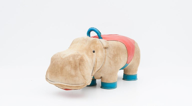 1970s High-Quality Children Toy 'Hippo' by German Renate Müller 'c' 3