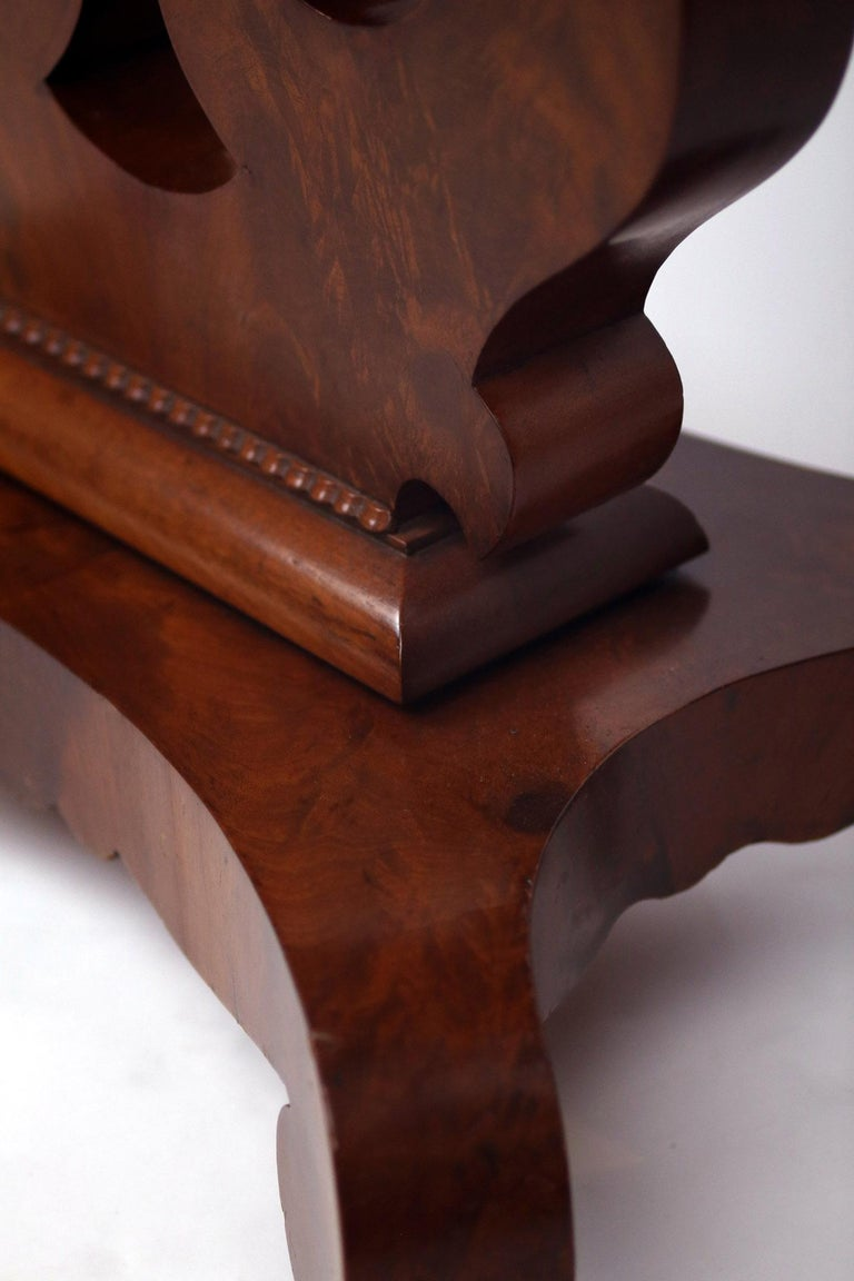North American 19th Century American Empire Mahogany Game Table For Sale