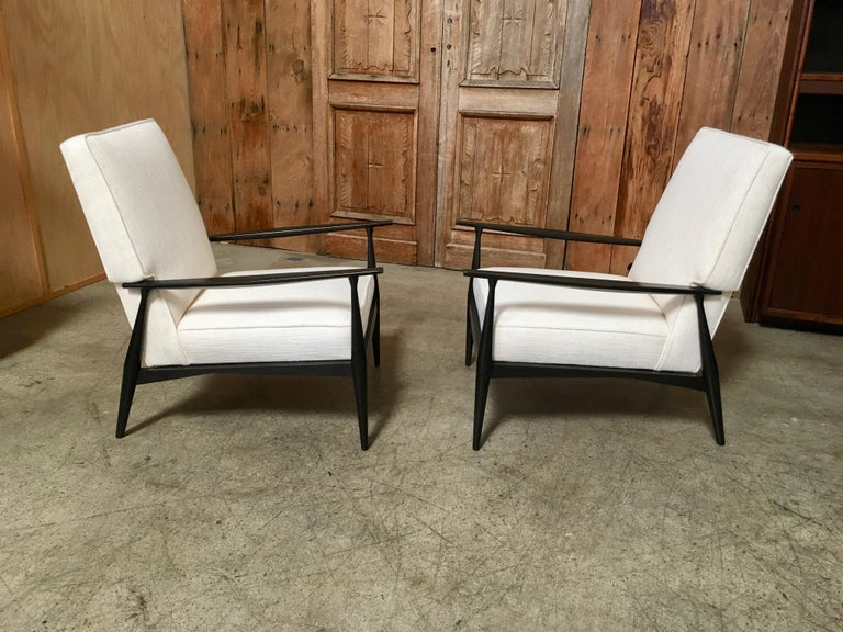 Ebonized Lounge Chairs by Paul McCobb For Sale