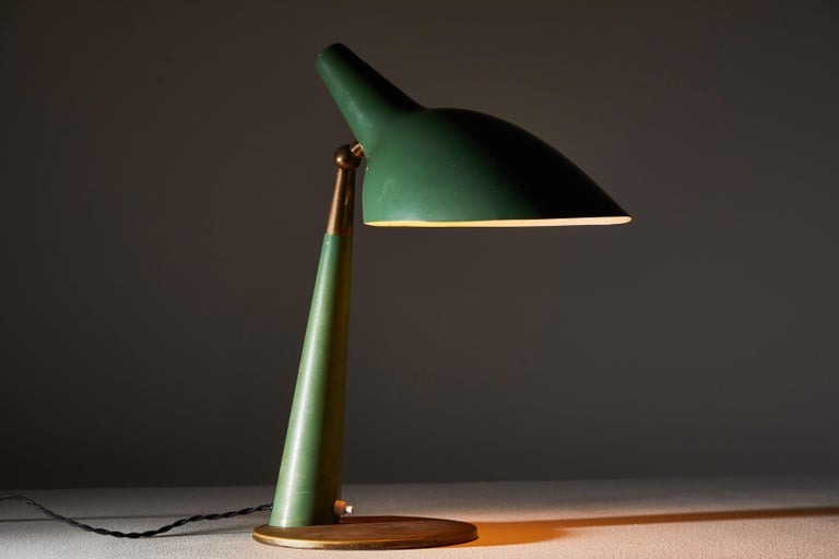 Enameled Rare Table Lamp by Stilnovo For Sale