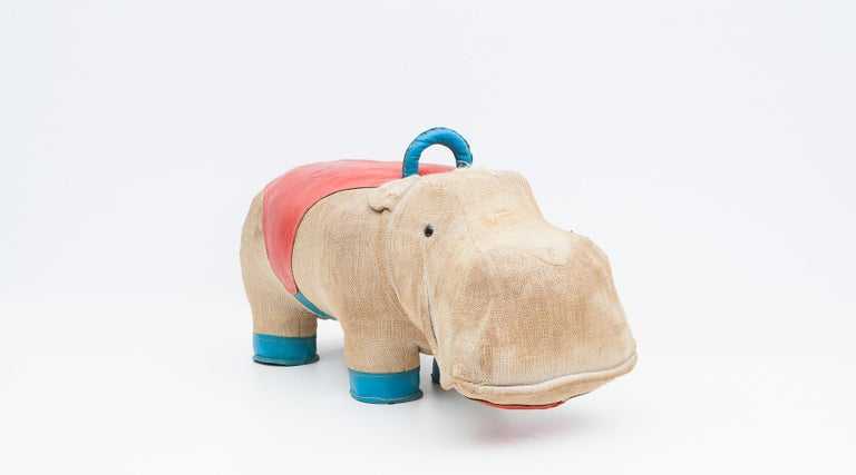 1970s High-Quality Children Toy 'Hippo' by German Renate Müller 'c' 5
