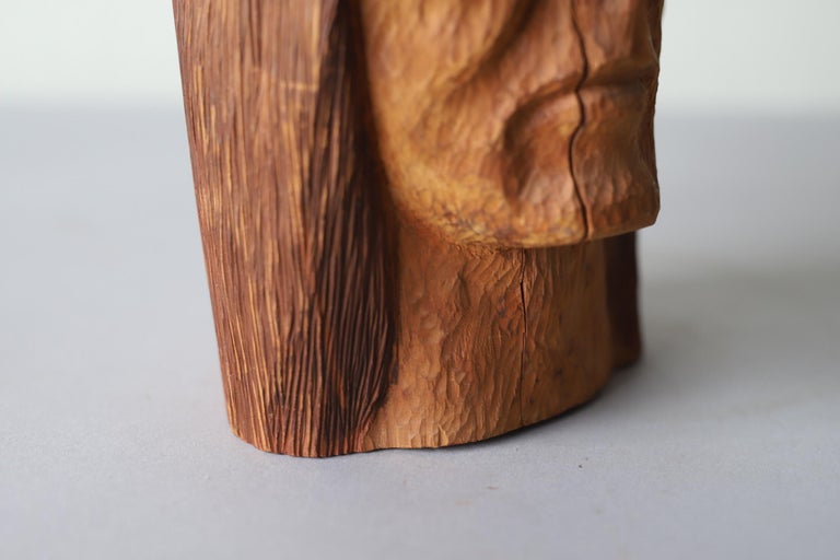 Hand Carved Wood Head For Sale 1