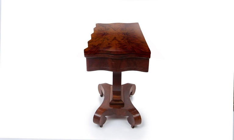 Mid-19th Century 19th Century American Empire Mahogany Game Table For Sale