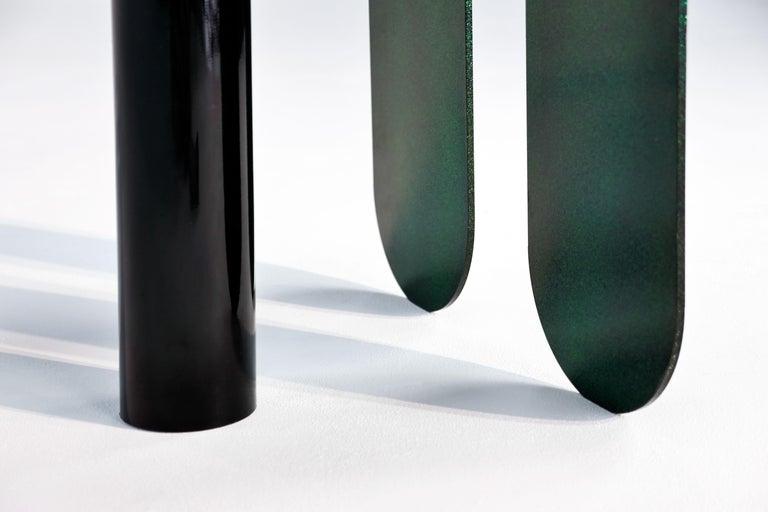 Dazzling Geometric Side Table by Birnam Wood Studio and Suna Bonometti For Sale 1