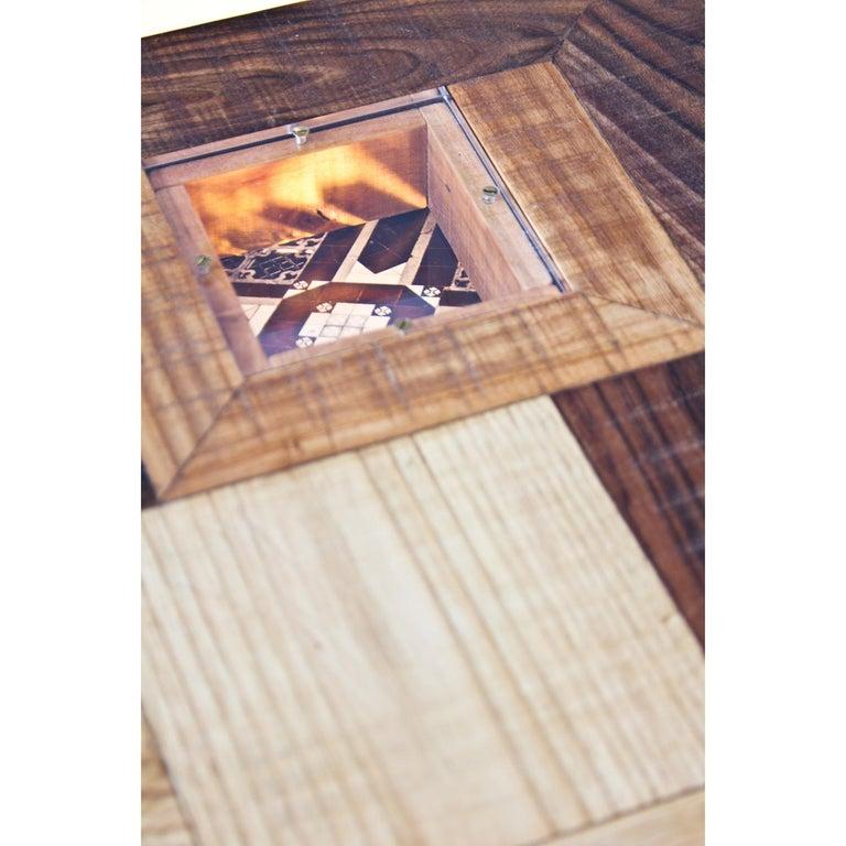 Upside down Konsole mit Mischwälder, Acryl und fotografische Drucke 6