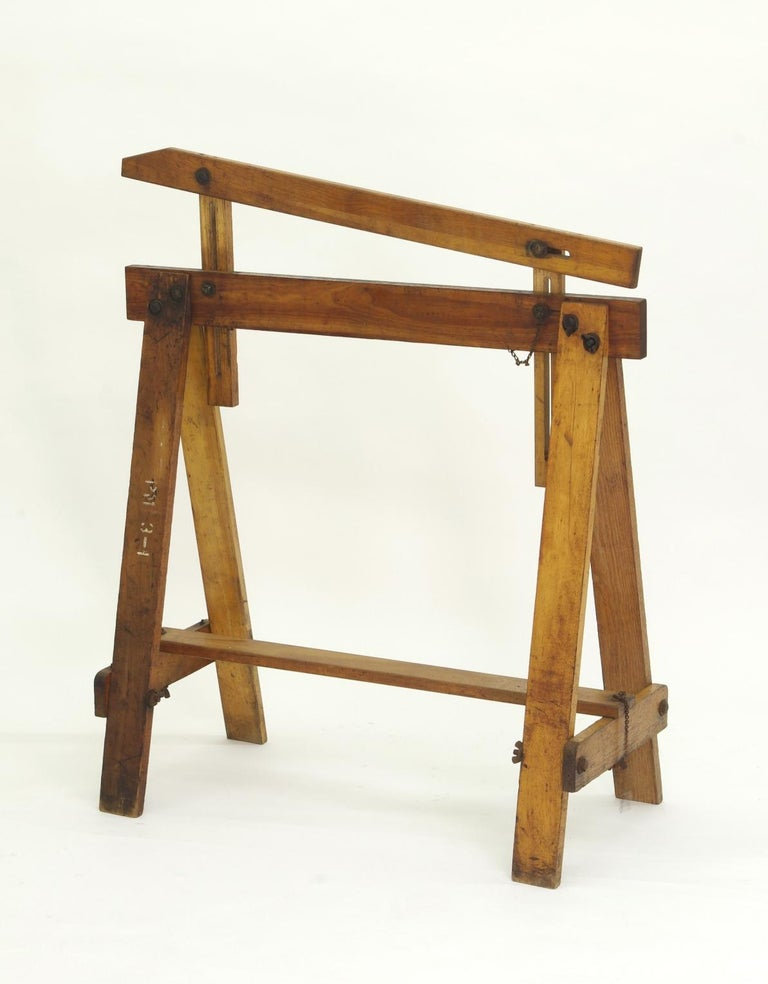 20th Century Pair of Adjustable Sawhorses, circa 1920 For Sale
