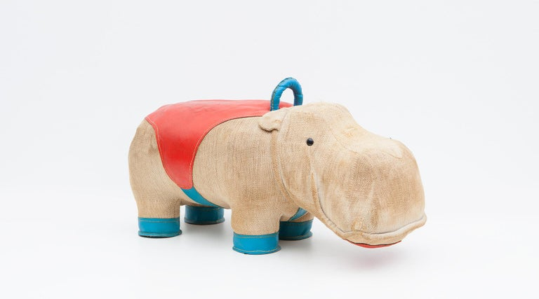 1970s High-Quality Children Toy 'Hippo' by German Renate Müller 'c' 6