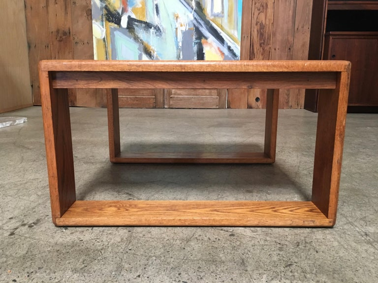 Oak California Design 1970s End Table by Lou Hodges For Sale