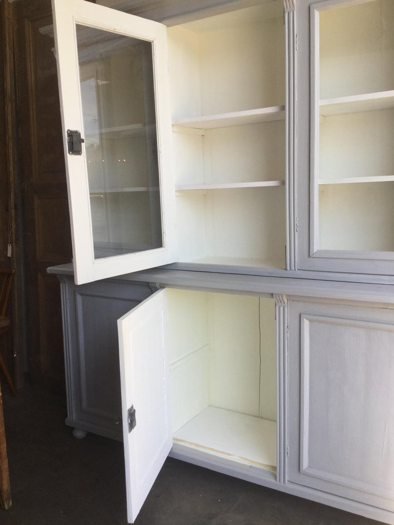 Antique Euro Grey Hutch For Sale 2