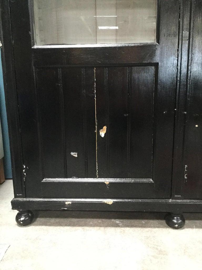 Antique Black European Hutch For Sale 3